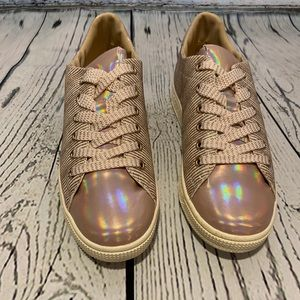 NEW Qupid Pullman Rose Gold Glitter Sneakers